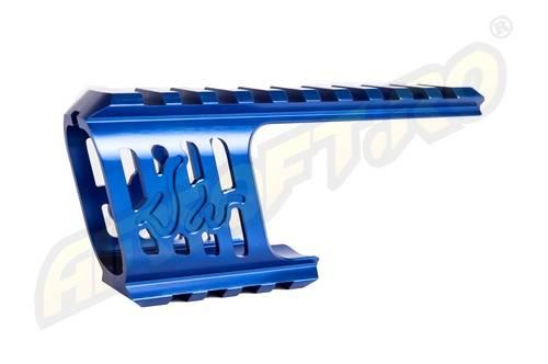 Baza de montare - cnc aluminiu - pentru revolver dan wesson - model 715 - albastru