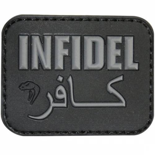 Patch mesaj - infidel - black