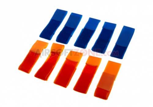 Set patch-uri albastru/portocaliu
