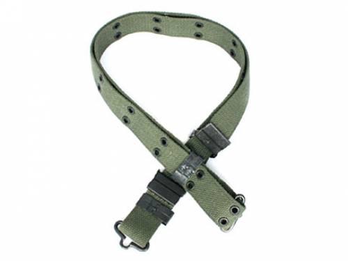 Curea pentru pantaloni cu carlig metalic (oliv-30 mm)