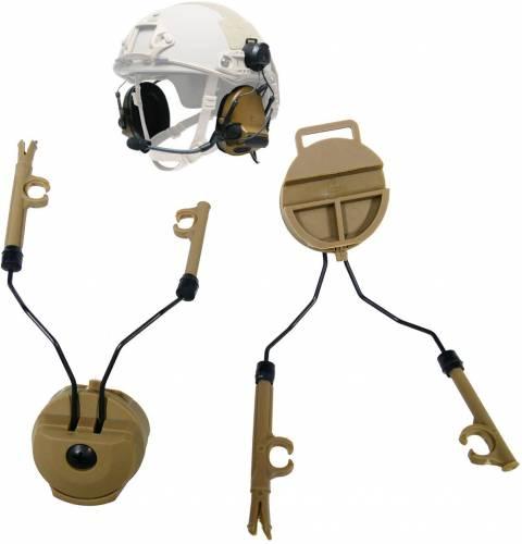 Adaptor rail pt castile comtac - dark earth