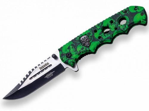 Briceag cu deschidere rapida - 85cm - skull green