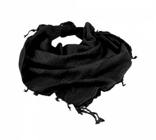 Fular model shemagh (negru-uni)