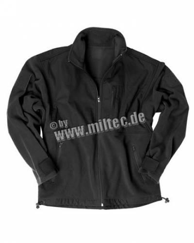 Jacheta fleece r/s negru