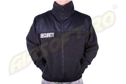 Jacheta neagra fleece security