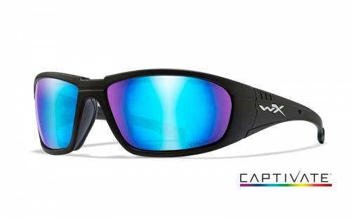 Ochelari cu protectie balistica model boss captivate - blue mirror - matte black frame