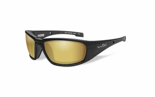 Ochelari cu protectie balistica model boss pol amber gold mirror - matte black frame
