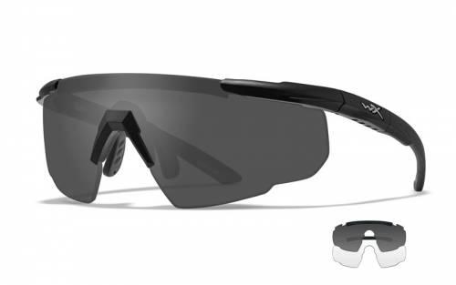 Ochelari cu protectie balistica model classic saber advanced - smoke grey + clear