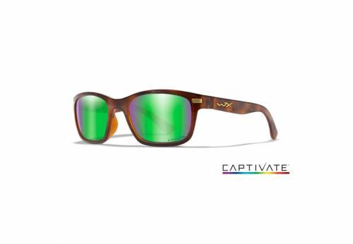 Ochelari cu protectie balistica model helix captivate - green mirror - gloss demi frame