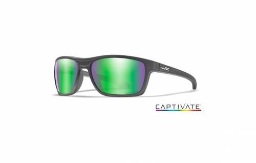 Ochelari cu protectie balistica model kingpin captivate - green mirror - matte graphite frame