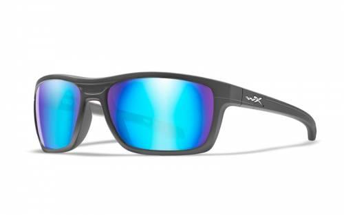 Ochelari cu protectie balistica model kingpin polarized - blue mirror - matte graphite frame