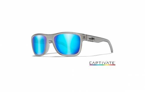 Ochelari cu protectie balistica model ovation captivate - blue mirror - matte slate frame