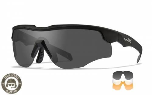 Ochelari cu protectie balistica model rogue comm - cu 3 lentile - rama negru mat