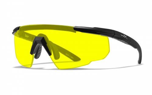 Ochelari cu protectie balistica model saber adv pale yellow - rama negru mat - w/bag
