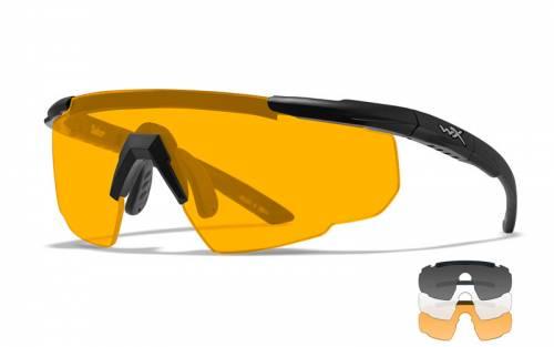 Ochelari cu protectie balistica model saber adv - smoke/clear/rust - matte black frame