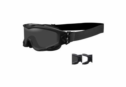Ochelari cu protectie balistica model spear - smoke/clear - matte black frame