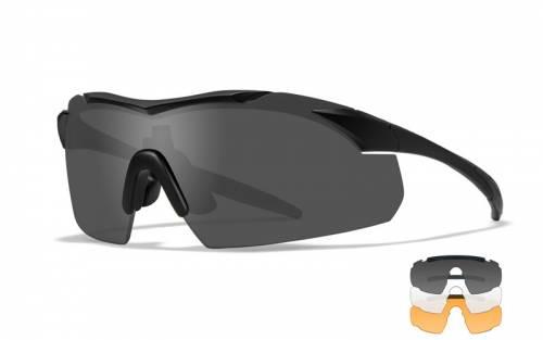 Ochelari cu protectie balistica model vapor 25 - grey/clear/light rust - matte black frame