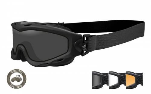 Ochelari tactici cu protectie balistica model spear cu 3 lentile duble - matte black