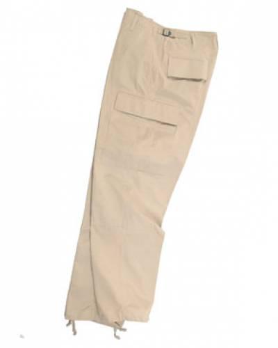 Pantaloni model ripstop (khaki)