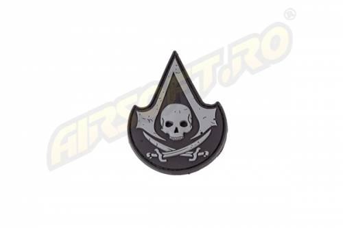 Patch cauciuc - assassin skull - swat