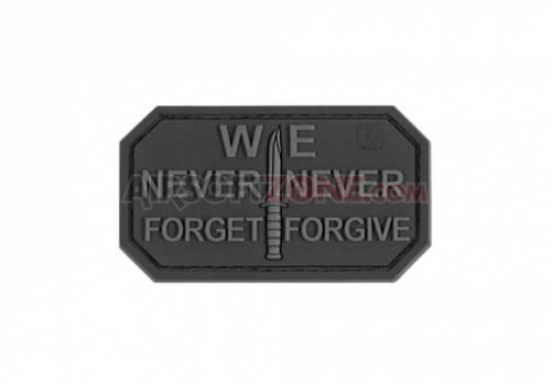 Patch cauciuc - mesaj never forget - black