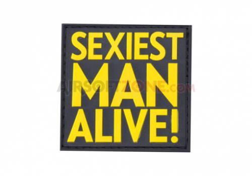 Patch cauciuc - mesaj sexiest man alive - color