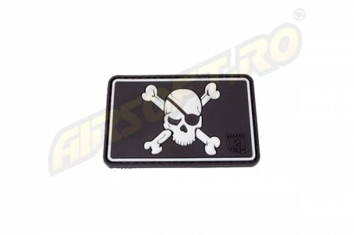 Patch cauciuc - pirate skull - swat