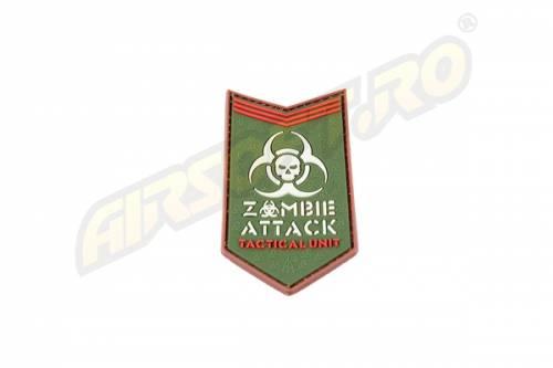 Patch cauciuc - zombie attack - multicam