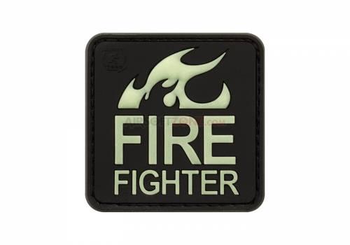 Patch cauciucat - fire fighter - glow in the dark