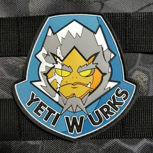 Patch - yeti wurks shield - pvc