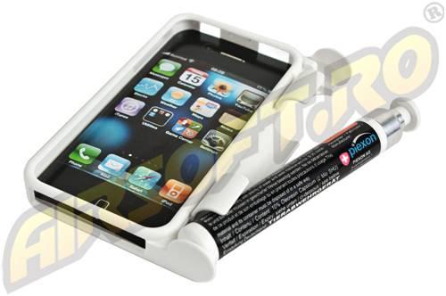 Husa pentru iphone 4 - cu spray iritant lacrimogen - smartguard - alba