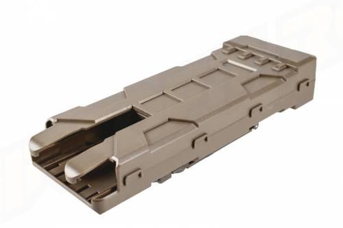 Port de 10 cartuse din polimer pt shotgun - tan
