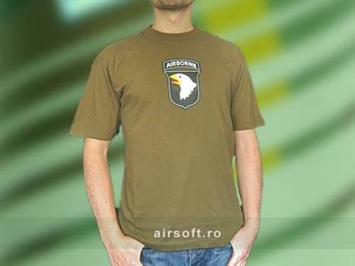 Tricou oliv cu imprimeu airborne