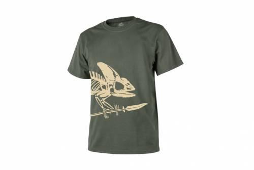 Tricou skeleton - olive green